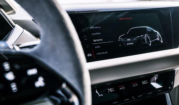 Infotainment 2022 Audi E Tron GT
